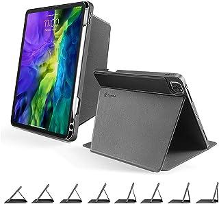 tomtoc iPad Pro 11 縦ケース 3モード 2018-2020兼用 第1第2世代 マグネティック保護カバー 縦置き 多段階スタンド機能 タイピング 映画鑑賞 PUレザー 耐衝撃 アップルPencil 2代 ワイヤレス充電可