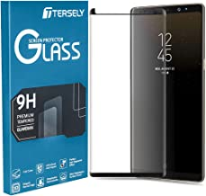 TERSELY Galaxy Note 9 Screen Protector, Samsung Note 9 Full Cover 4D Crystal Tempered Glass Screen Protector Film Ultra HD Clear Anti-Scratch [Case Friendly][Full Coverage]- Black