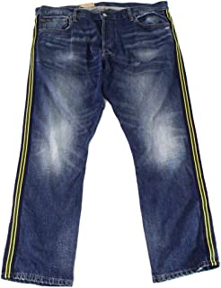 Varick Slim Straight Fit Yale Button Fly Denim Jeans