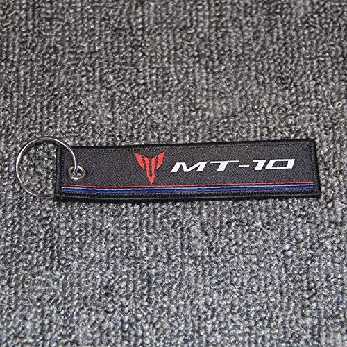 LIWENCUI- Motorrad-Schlüsselanhänger Gewebte Schlüsselring-Umbau-Aufkleber Kette for Yamaha MT-09 MT-07 MT-03 MT-01 MT-25 MT-125 MT-10 (Color : MT 10)