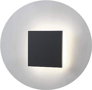 Topmo-plus 8W Lámpara de pared LED OSRAM SMD Aplique de pared Diseño de Bañadores para interior / exterior a prueba de agua IP65 Spotlight living / terraza / jardín 4000K Blanco natural 15CM gris