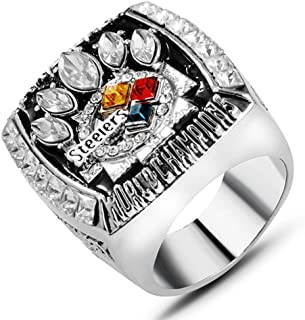 AJZYX 2005 Pittsburgh Steelers Super Bowl Championship Replica Ring Collectible Souvenir Size 11