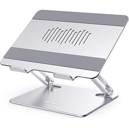 AWAVO Support pour Ordinateur Portable, Support Pc Portable Réglable en Aluminium, Compatible avec Les Ordinateurs Portables MacBook Air/Pro, Dell XPS, HP, Lenovo et Plus 10-15,6 Pouces