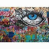 Fondo de fotografía de Graffiti de Arte de Pared de ladrillo, Estudio de fotografía de Fondo de fotografía de Retrato A6 9x6ft / 2,7x1,8 m