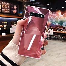 URFEDA Compatibel met Samsung Galaxy S10 Plus telefoonhoesje Diamond Glitter Case met spiegeleffect Bling TPU Siliconen + ...