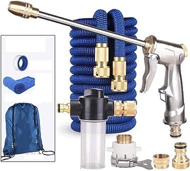 LPCMLS Garden Hose Nozzle Sprayer – Heavy Duty Metal Spray for Hand Watering Plants & Lawn, Car Washing, Patio, Dog & More. (Color : Blue, Size : 7.5m(2.5m))