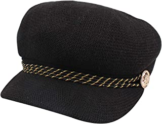 MZHHAOAN Women's Tongue Octagonal Cap Linen Breathable Female Beret Winter Outdoor Windproof Dome hat