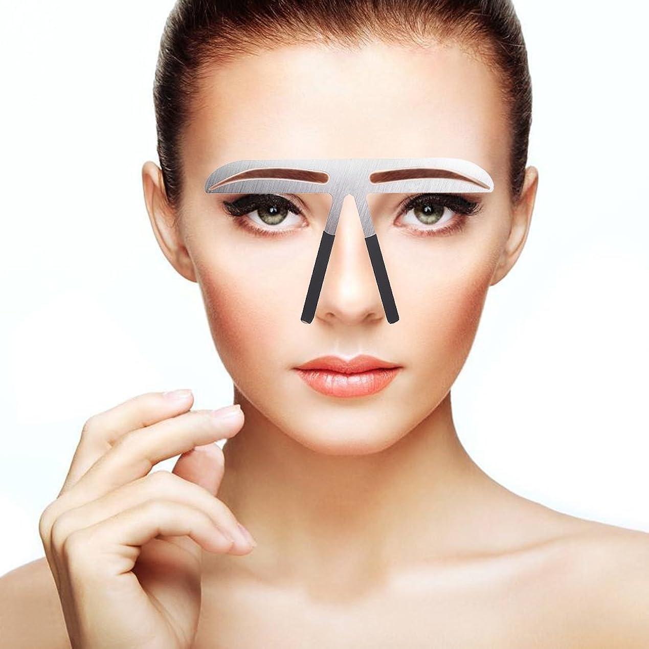 耐久アジャ作詞家眉毛テンプレート 眉毛の定規 メイクアップ 美容ツール アイブローテンプレート アートメイク用定規 美容用 恒久化粧ツール 左右対称 位置決め (04)