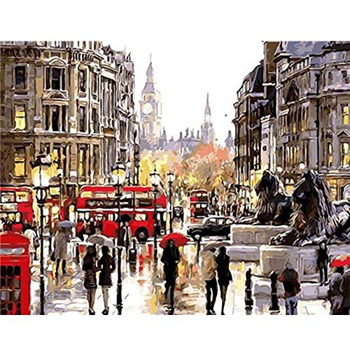 INART2 Erwachsene malen nach Zahlen Porträt DIY Wandkunst Dekoration Acrylfarbe Färben nach Zahlen Paar Bild Einzigartiges Geschenk 40x50cmx1 ungerahmt