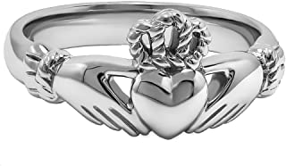 Sterling Silver ULS-6334 Ladies Claddagh Ring