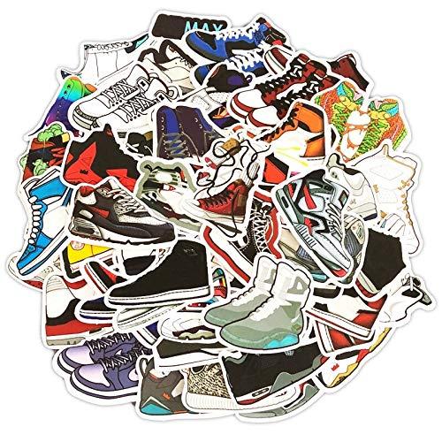 HENJIA Mixed Cartoon Sneaker Stickers for Notebook Graffiti Waterproof Stickers Bike Luggage Box Shoes 100Pcs