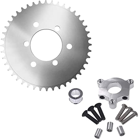 1 Silver CNC Adapter For 49cc 50cc 66cc 80cc Motorized Bike 36T Sprocket 1.5