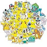 LYDP 50 pegatinas de Pokémon para equipaje, equipaje, maleta de Pokémon