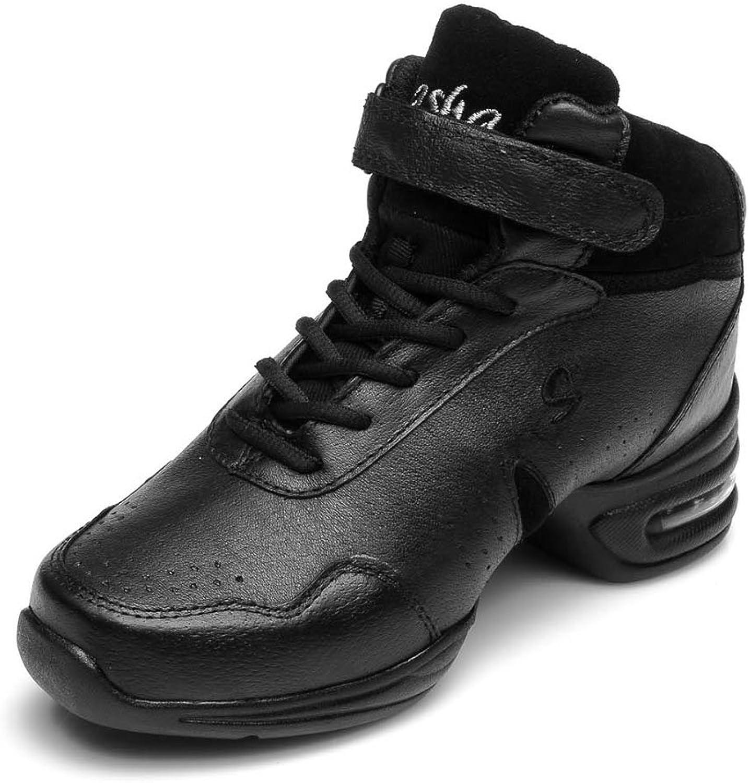HIPPOSEUS Women's Boost Dance Sneaker Jazz Dance Sneaker Modern Jazz Soft Leather Sport Sneaker,Model B51