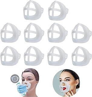 Soporte para respirador 3D [10] Barra protectora para pintalabios, cómodo y reutilizable, gel de silicona 3D lavable para ...