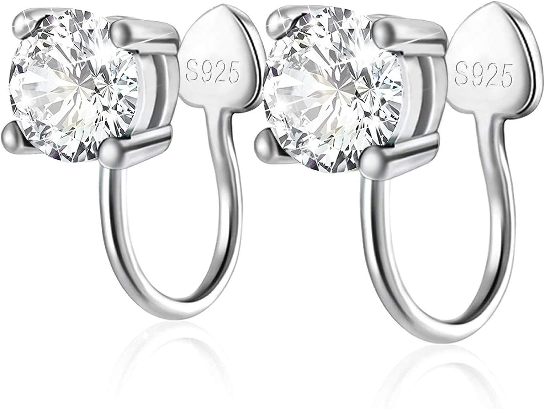 Cubic service Zirconia Ear Cuffs - SALENEW very popular! Silver Hypoallergenic Sterling Non-Pi