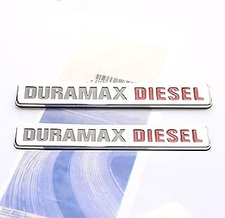 Yoaoo 2x OEM Duramax Diesel Allison Truck Emblem Badges Silverado 2500 3500 Hd Gmc Sierra Chrome