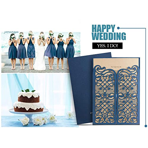 Classical Cake Beautiful Personalised Anniversary Party Invitations