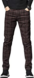 Men's Stretch Slim Fit Plaid Jeans