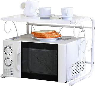 WANG YUE Étagère de Cuisine réglable et Extensible Étagère de Four à Micro-Ondes Blanc Organisateur de Rangement au Sol en...