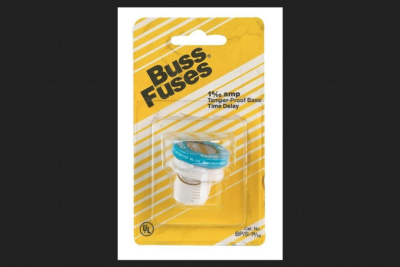 アシスタント厚い目的Bussmann BP / S - 1?–?6?/ 10?1?–?6?/ 10?ampタイプS time-delay dual-elementプラグヒューズRejectionベース125?V UL Listed、カード付