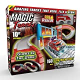 Ontel Magic Tracks Fire Rescue Glow in The Dark Racetrack Set with 10 Feet of Speedway