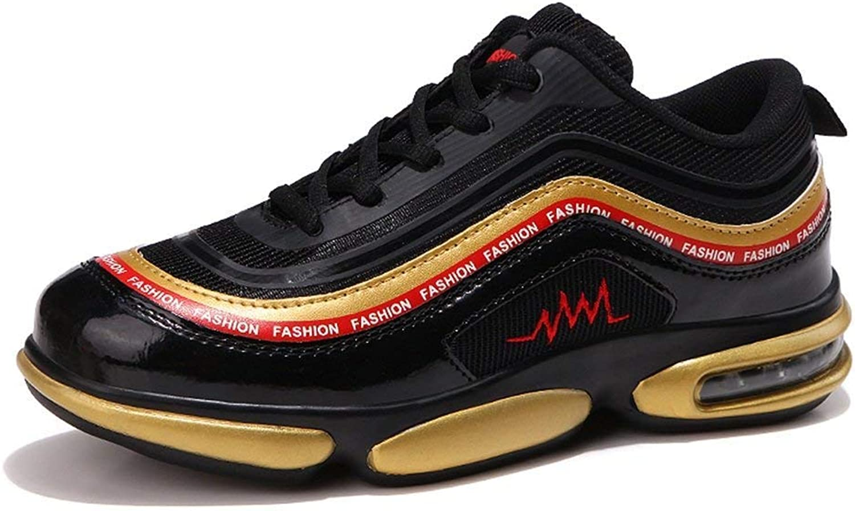 2018 Men's Athletic shoes Energy Breathable Afterburn Lace-up Sneaker (color  Black gold, Size  39 EU) (color   Black gold, Size   39 EU)