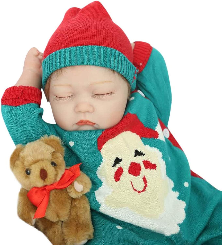 Honestyi Bambole Reborn Femmina Bambole Bambina Ragazza Bambolotto Neonato Bambolotti Realistici Bambolotti Morbido Silicone Vinile Reborn bambino bambola Regalo di Natale