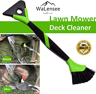 Walensee Lawn Mower Tools Lawn Mower Accessories Lawn Mower Deck Cleaner Lawn Mower Scraper Brush Mower Cleaner Mower Deck Brush Tractor Cleaning Tools 16 Inches Length