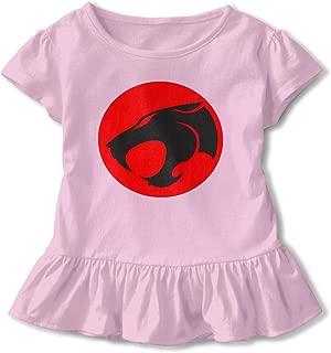 SBurton THU-nderC-ATS Graphic Cotton Ruffle T-Shirts Round Collar Jersey