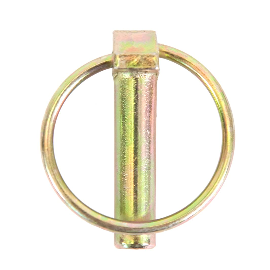 Koch Industries 4020741 Standard Lynch Pin with Chain, 7/16 x 1-1/4-Inch, Yellow Zinc Plated