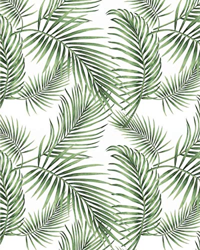 "Tropical Palm Wallpaper Rainforest Leaves Wall Paper Jungle Wallpaper Self Adhesive Wallpaper Peel and Stick Wallpaper Green Wallpaper Removable Wallpaper Vinyl Jungle Wallpaper 17.7""×78.7"""