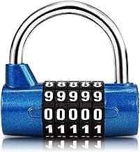 Surplex 5-cijferig combinatieslot hangslot, combinatieslot, resetbaar voor school, gym, case, gereedschapskist, hek, kast,...