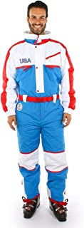 Patriotic USA Ski Suit - Red, White, and Blue Retro Ski Suit