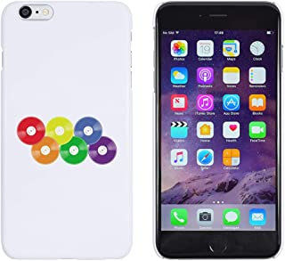 White 'Rainbow Vinyl Records' Case for iPhone 6 Plus & 6S Plus (MC00253287)