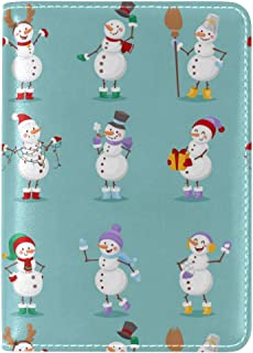 Cute Elf Christmas Decorations Leather Passport Wallet for Passport Holder for Safe Trip durable Easy to Carry