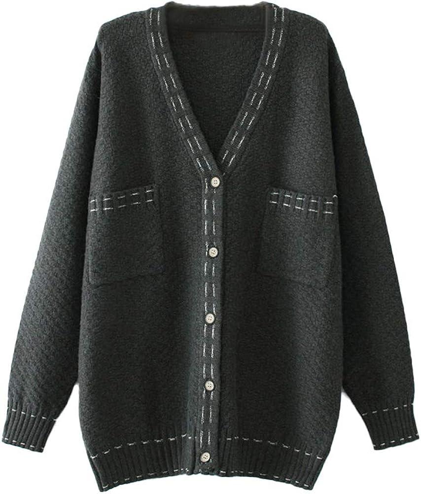 Mordenmiss Womens Knit Sweater Coat Outwear Loose Long Sleeve Open Front Cardigan