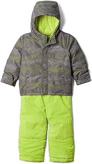 Columbia Toddler Girls Buga Set, City Grey Dotscape Print/Bright Chartreuse, 2T