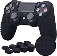 TERSELY Skin Grip Anti-Slip Silicone Rubber Cover Protector Protective Case for Sony DualShock4 PS4/PS4 Slim/PS4 Pro Contr...