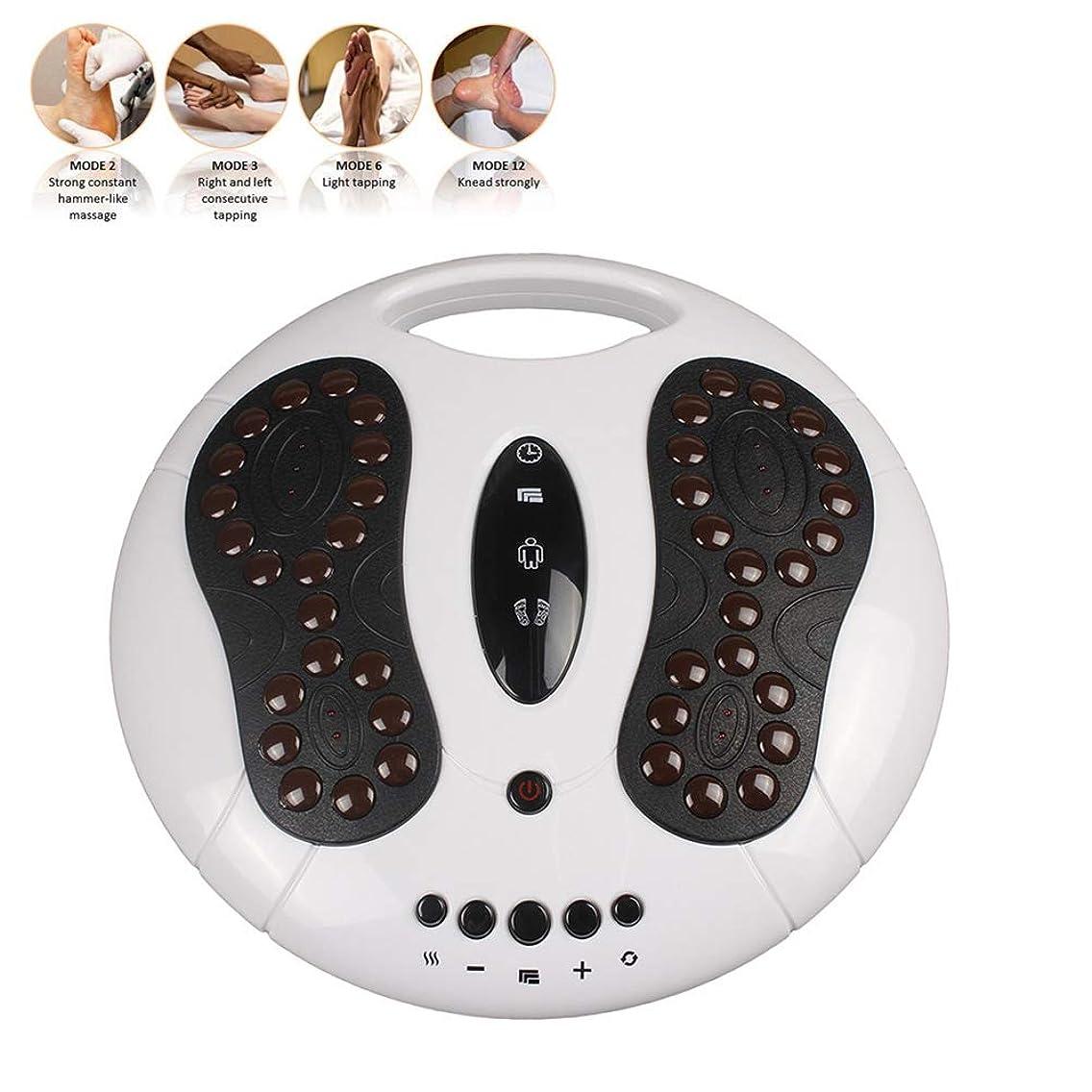 伝導花父方の電動EMSフットマッサージャー足循環器は、足と足首の痛みを99の強度レベルと25種類のマッサージモードで緩和します(新規)