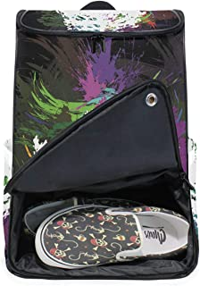 DEZIRO - Mochila para ordenador portátil, diseño de hoja de arce abstracta, para mujeres y hombres, para la universidad, la escuela, la escuela, la bolsa de negocios,