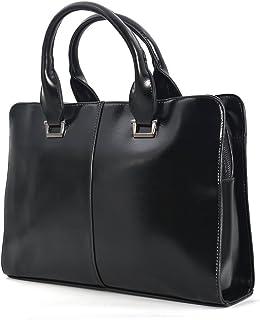 JinDiLong PU Leather Briefcase 10-13.3 Inch Laptop Bag Black