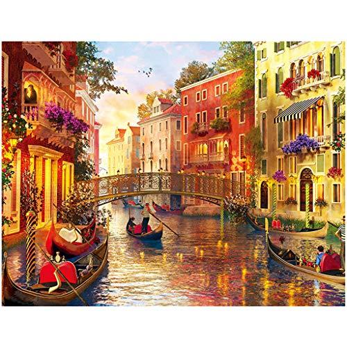 Puzzle Per Adulti 1000Pcs Venezia Romantica Makalon Adults Jigsaw Puzzles 1000 Piece Large Puzzle Game Interesting Toys Personalized Gift