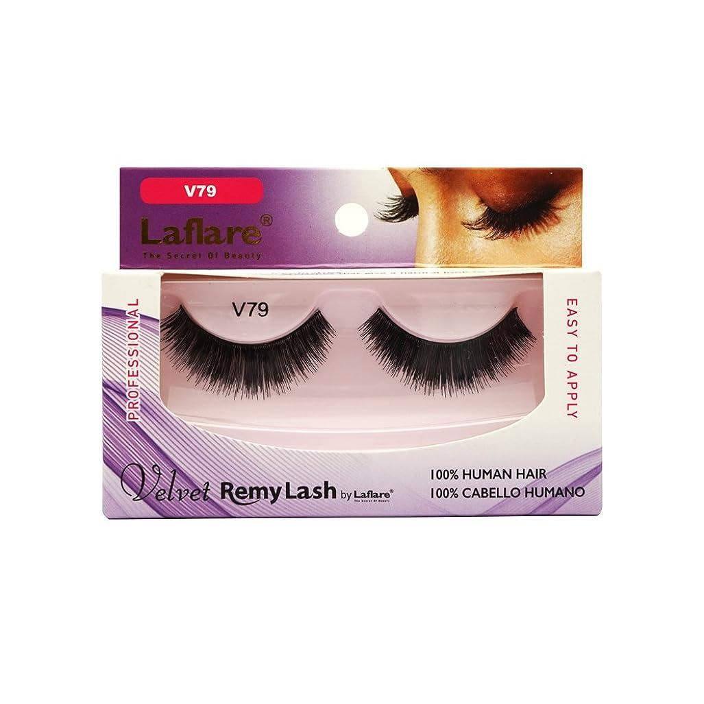 ミネラルご意見ハブ(3 Pack) LAFLARE Velvet Remy Lash - V79 (並行輸入品)