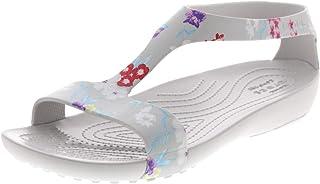 Crocs Women's Serena Graphic Sandal W Water Shoe, Tropical Floral/Pearl