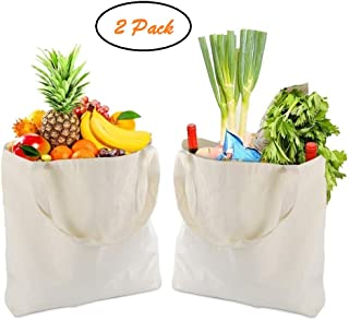 Reusable Shopping Bags Grocery Canvas Tote Bags Bottom 16.5