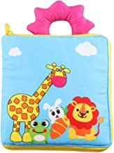 vocheer My First Soft Book, Baby Soft Book Early Education Toys Activity Crinkle Cloth Book for Toddler Non-Toxic Fabric Crinkle Paper, Giraffe