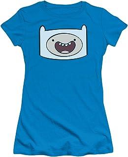 Adventure Time - Juniors Finn Head T-Shirt