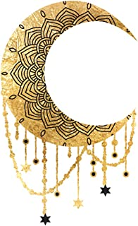 DREAMY NIGHT set of 25 premium waterproof metallic gold and black foil temporary celestial boho inspired Flash Tattoos - Party Favors, Party Supplies, moon, stars, bohemian, space