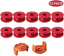Thten Replacement Trimmer Spool Line for Worx WA0010 WG180 WG163 Weed Wacker Spool with WA6531 GT Spool Cover 50006531 String Trimmer Refills 10ft 0.065